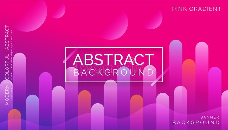桃红色抽象背景,现代五颜六色的背景,动态抽象背景 库存照片