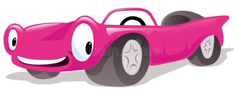 桃红色敞蓬车汽车 向量例证