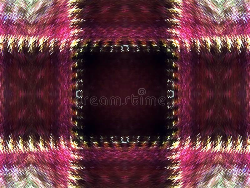 桃红色方格的样式被说明的抽象背景与之字形边缘的 免版税图库摄影