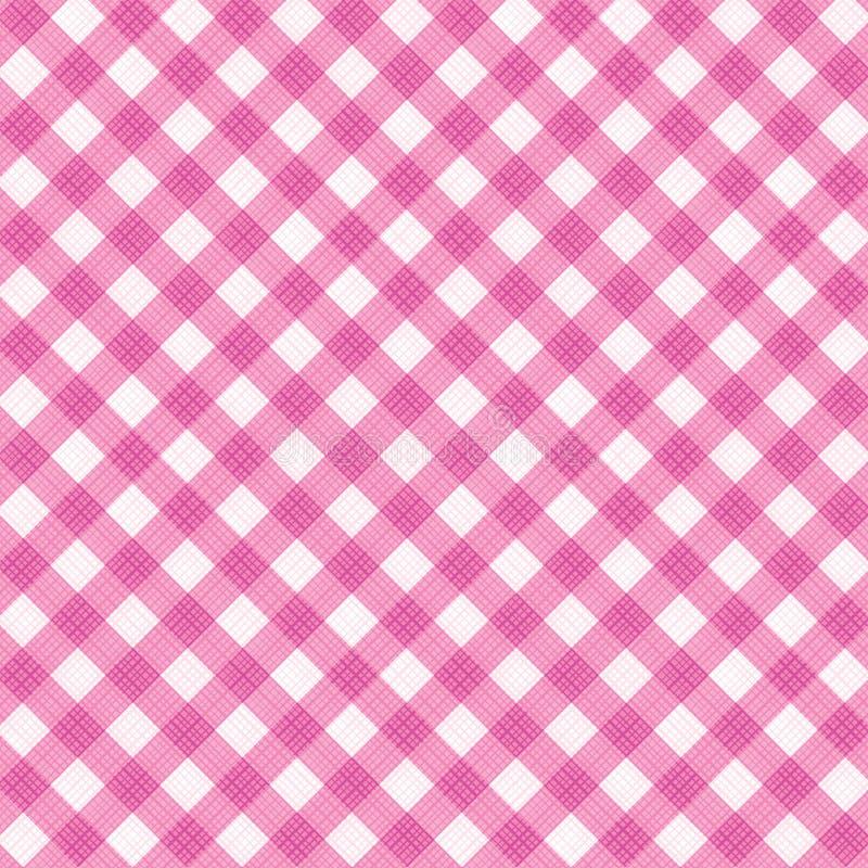 桃红色方格花布织品布料,包括的无缝的模式 皇族释放例证