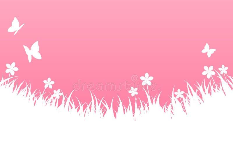 桃红色春天背景 向量例证