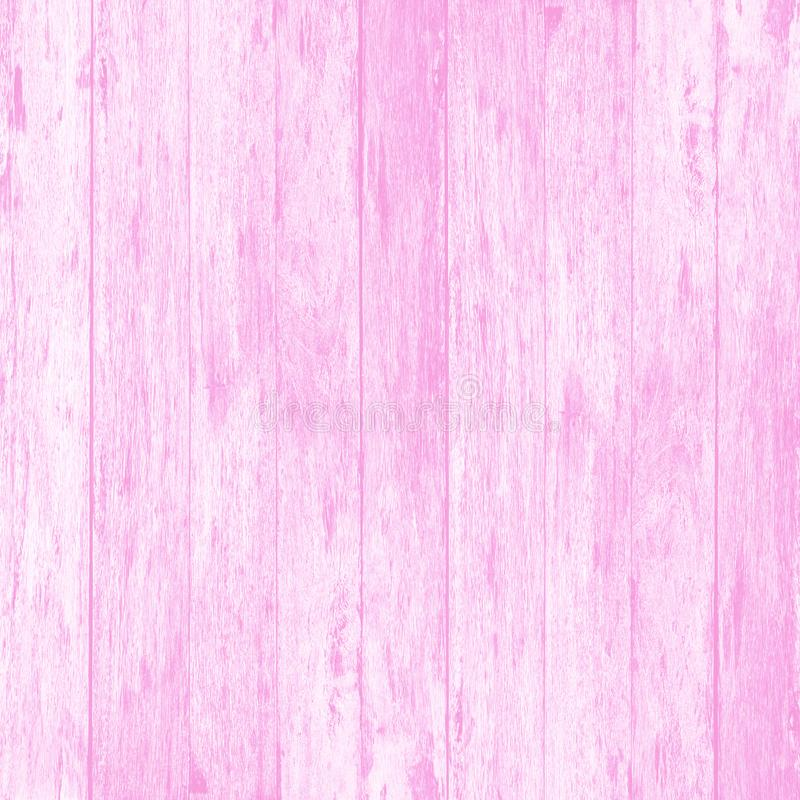 桃红色木墙壁板条纹理或背景 库存照片