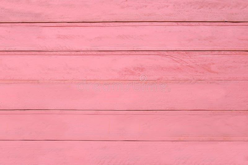 桃红色木纹理背景,内部的墙壁 图库摄影