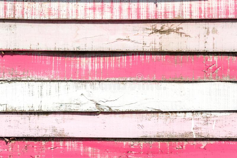 桃红色木纹理背景 葡萄酒难看的东西白色桃红色木p 库存图片