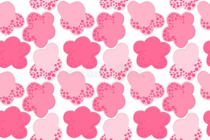 桃红色棉花糖覆盖无缝的背景 向量例证