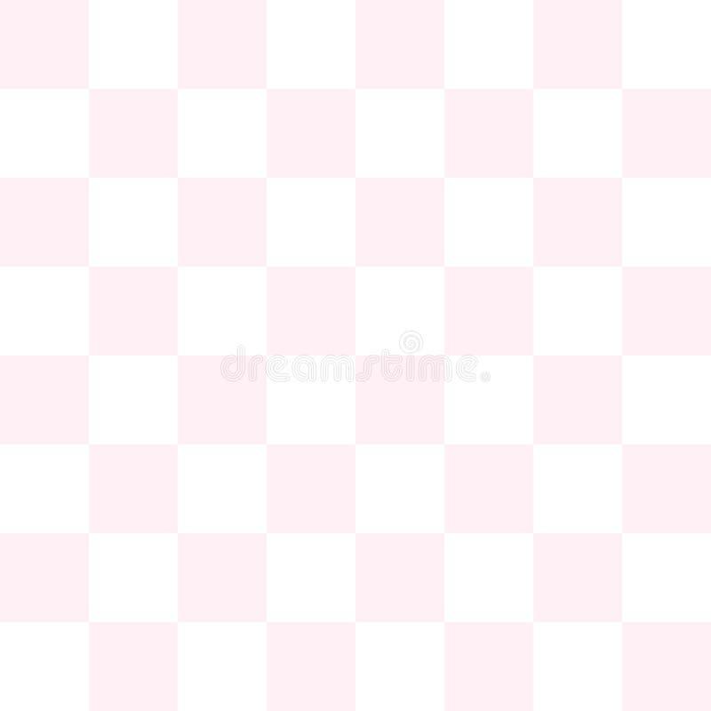 桃红色棋盘传染媒介 库存例证