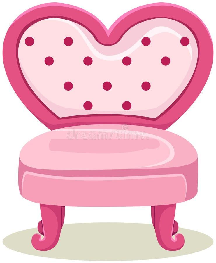 桃红色椅子 库存例证