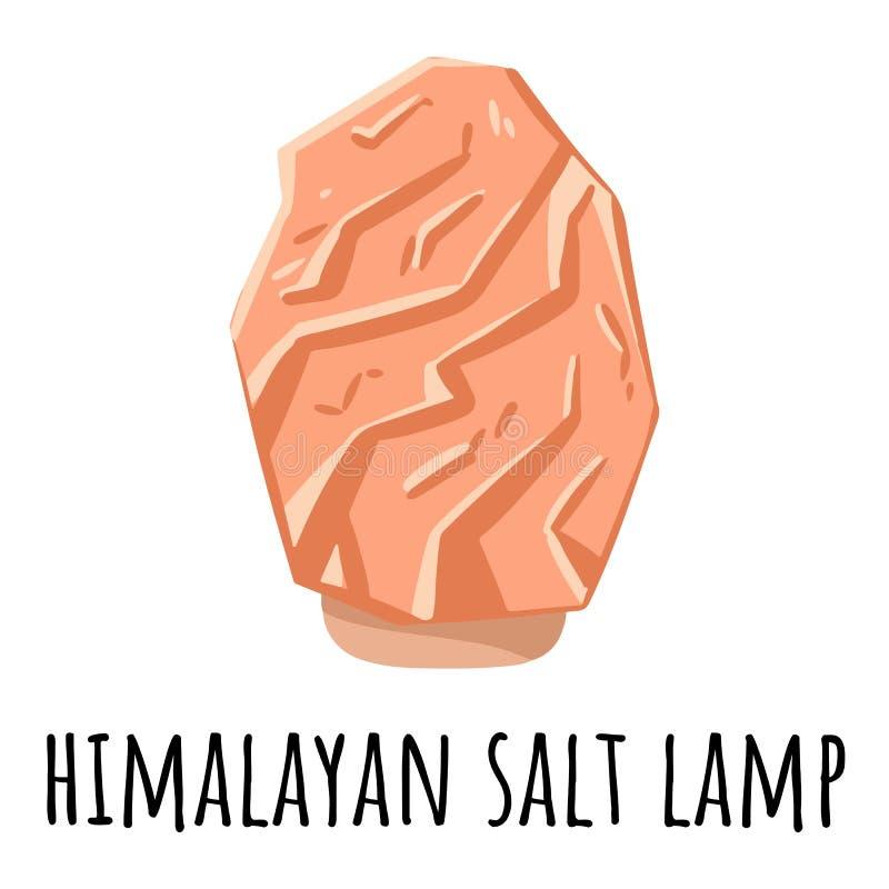 桃红色橙色喜马拉雅盐灯 传染媒介与盐水晶的商标模板 放松概念标志温泉图象 库存例证