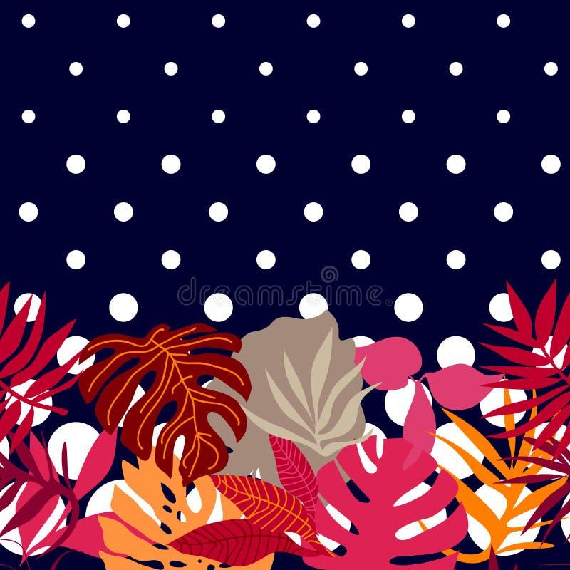 桃红色热带森林 库存例证