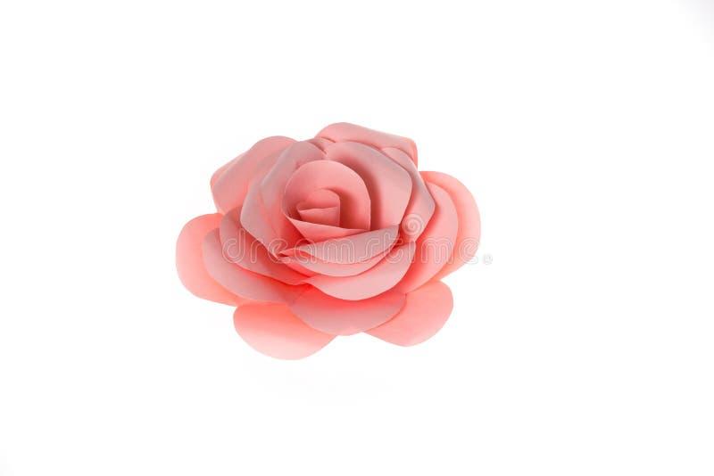 桃红色玫瑰纸 库存图片