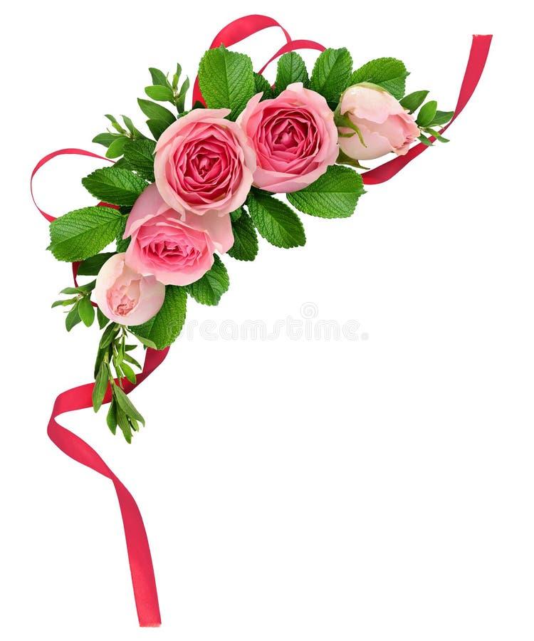 download 桃红色玫瑰花的布置 库存照片.图片