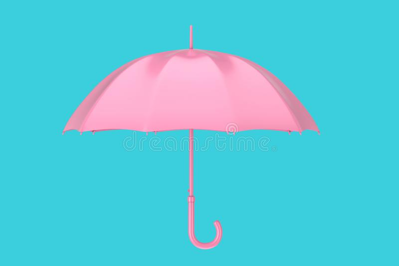桃红色现代伞 3d?? 库存例证