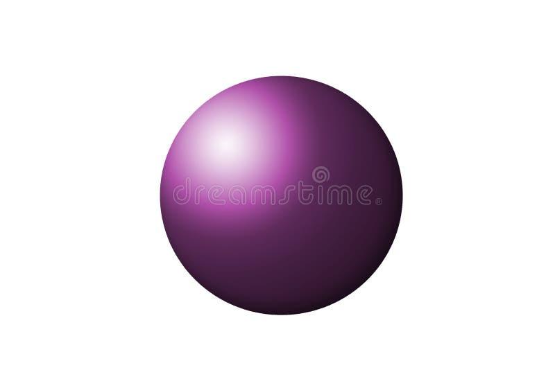 桃红色球形 库存照片