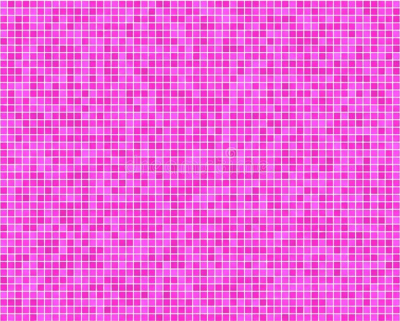 桃红色瓦片墙壁 向量例证