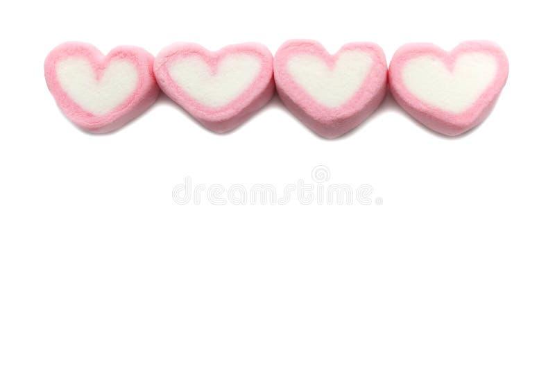 桃红色甜心形状蛋白软糖 图库摄影