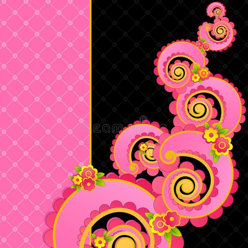 桃红色甜点漩涡 向量例证