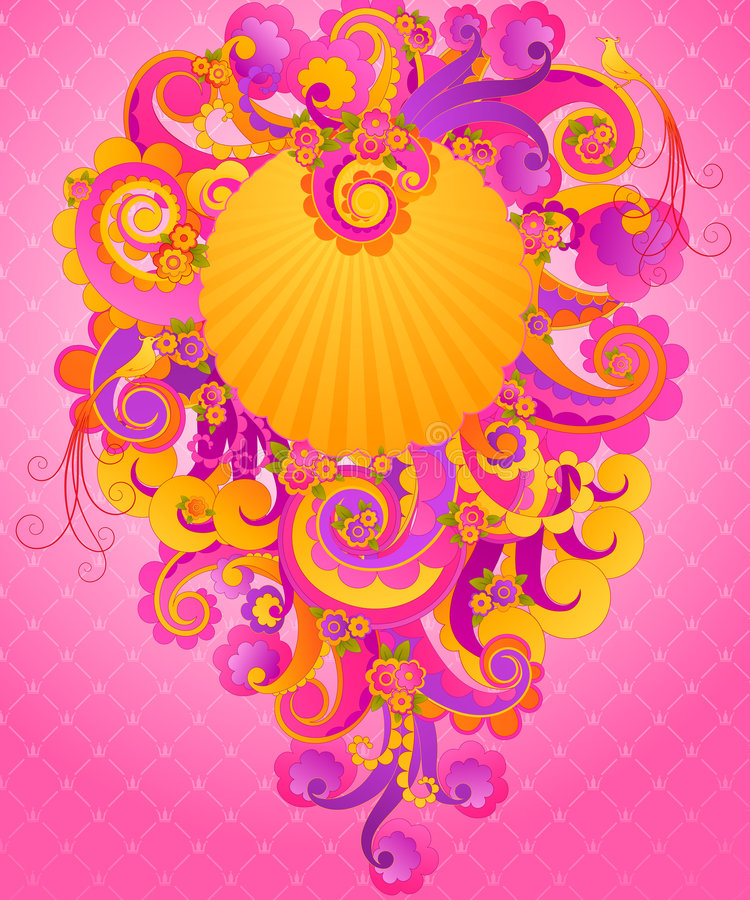 桃红色甜点漩涡 库存例证