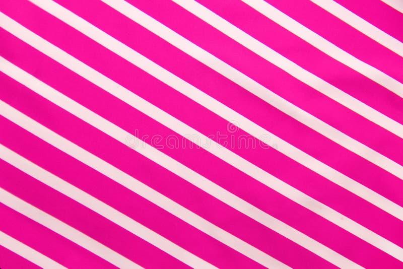 桃红色白色条纹纹理 库存照片