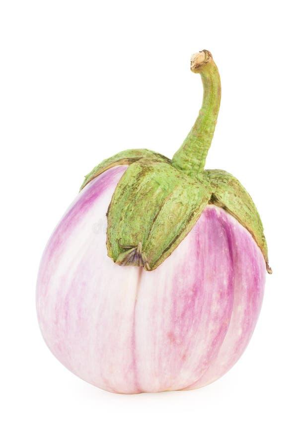 桃红色白色茄子 库存照片