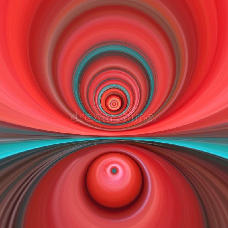 桃红色的扭转的漩涡 库存照片