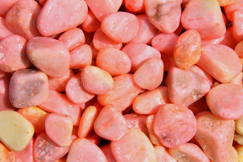 桃红色石渣纹理和背景  免版税库存照片