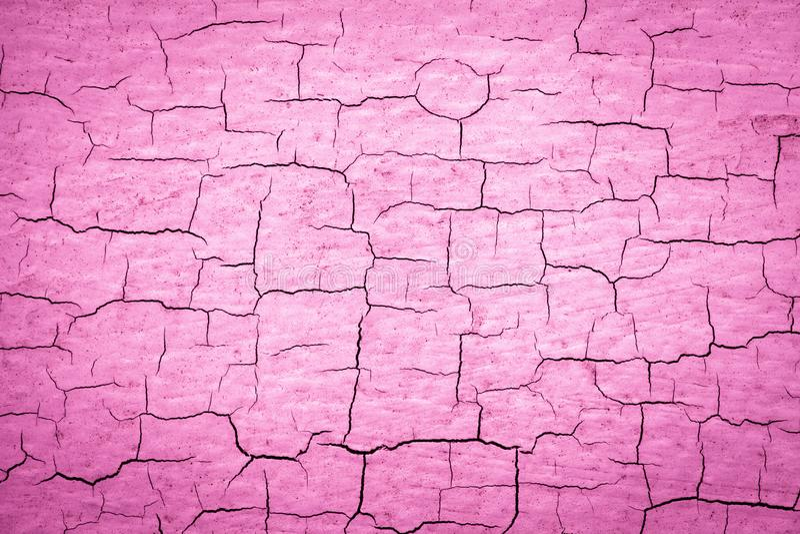 桃红色破裂的油漆 皇族释放例证