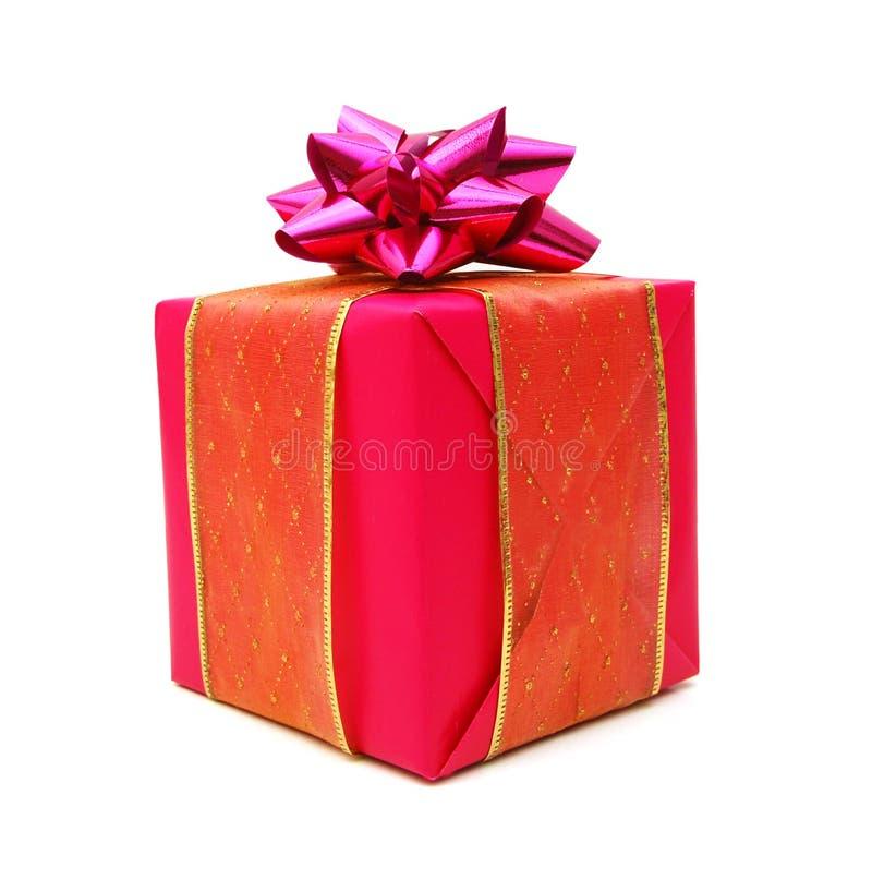 桃红色礼物盒 库存图片