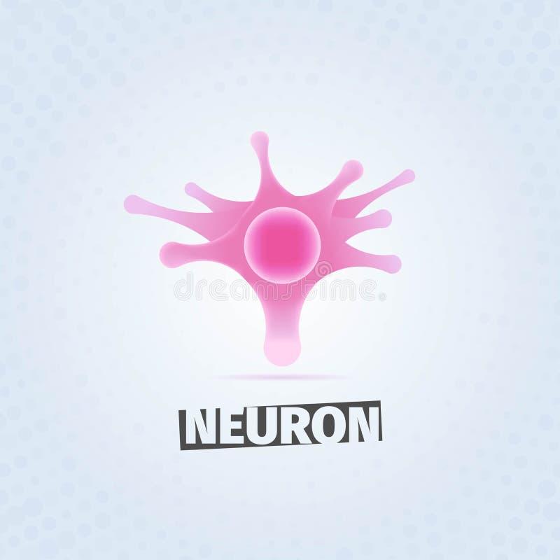 桃红色神经元 皇族释放例证
