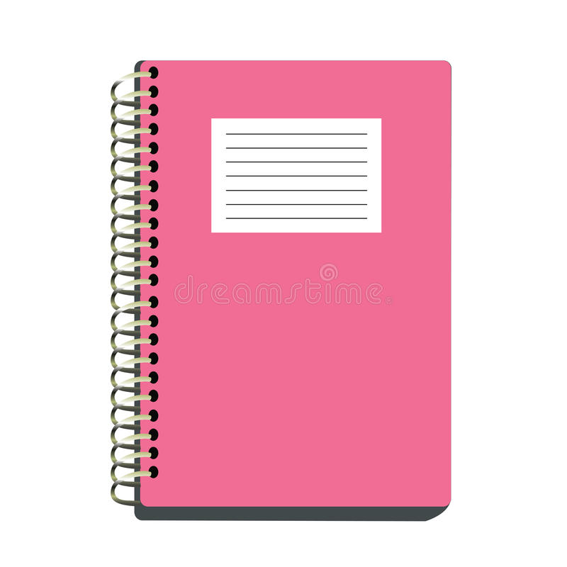 桃红色笔记本 向量例证