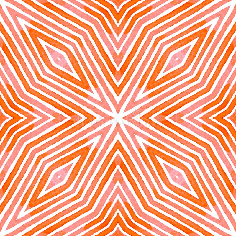 桃红色红色几何水彩 令人愉快的无缝的样式 手拉的条纹 刷子纹理 Outst 向量例证
