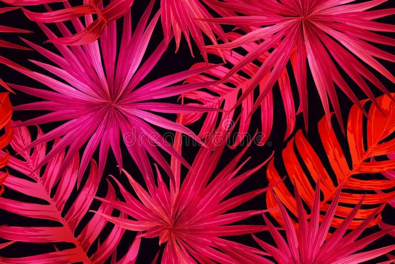 桃红色红色异乎寻常的样式 皇族释放例证
