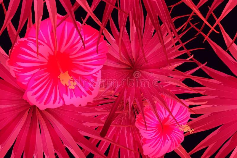 桃红色红色异乎寻常的样式 向量例证