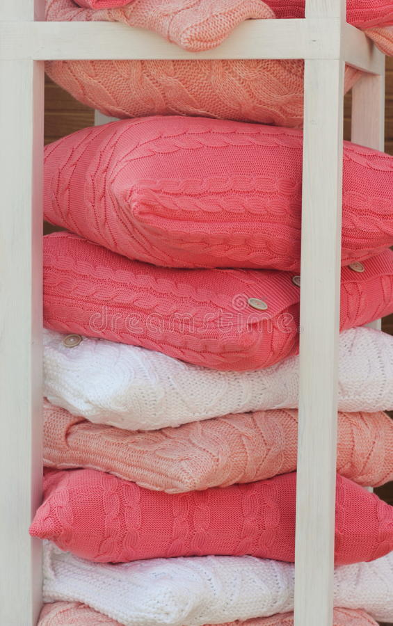 桃红色纺织品 图库摄影