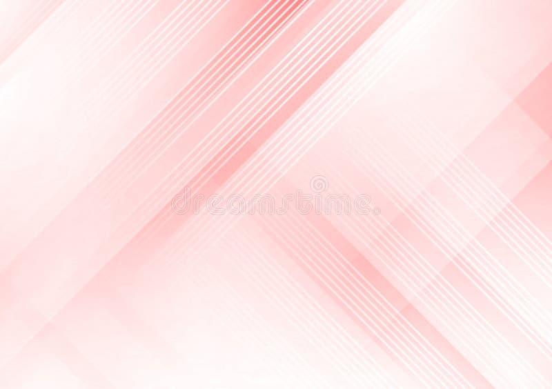 桃红色线性发怒样式设计墙纸 库存例证