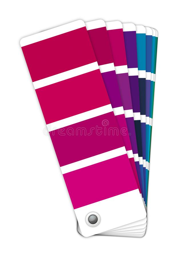 -桃红色绿化的颜色指南 免版税库存照片