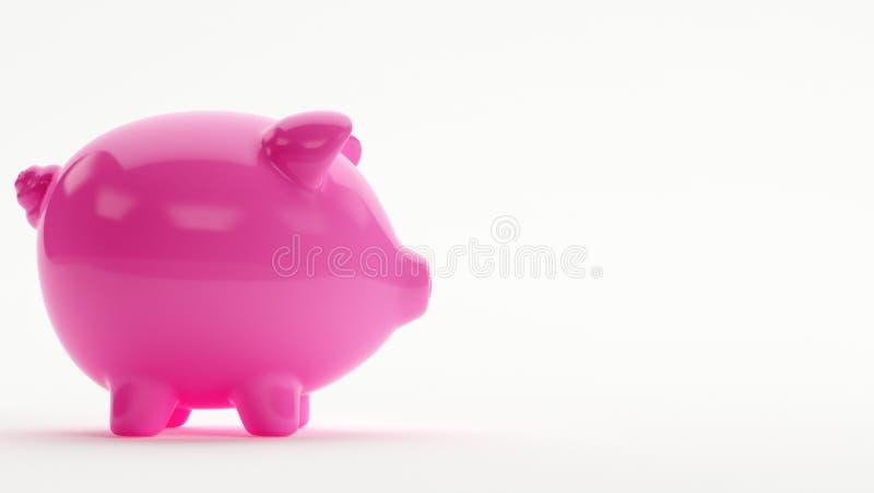 桃红色节约金钱银行猪 库存照片