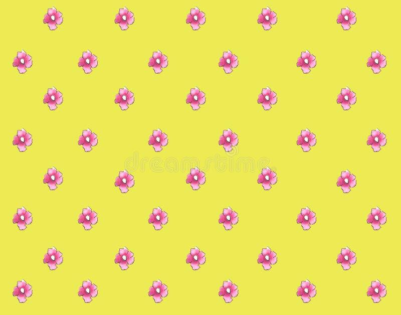桃红色花水彩小的桃红色花俏丽的背景 库存例证