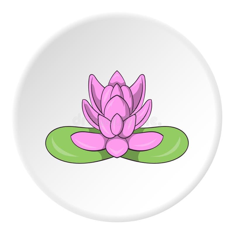 桃红色莲花象,动画片样式 皇族释放例证
