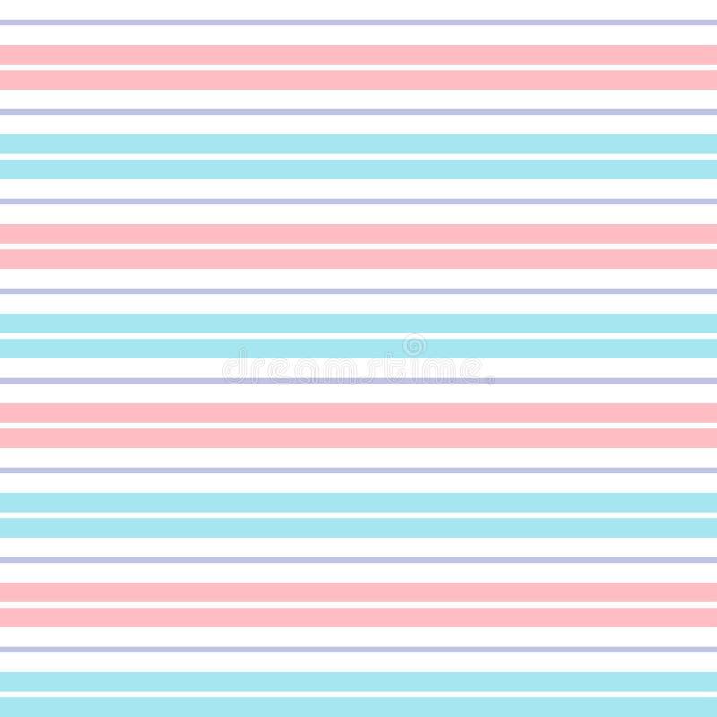 桃红色蓝色紫色柔和的淡色彩镶边背景 库存例证