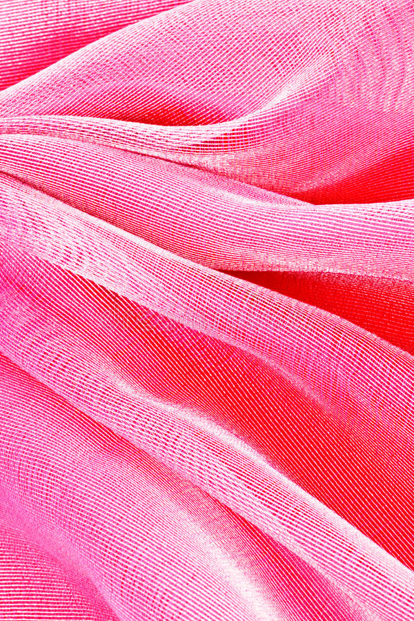 桃红色薄纱