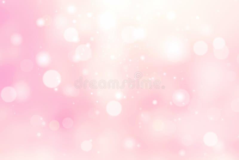 桃红色被弄脏的背景,华伦泰背景 库存例证