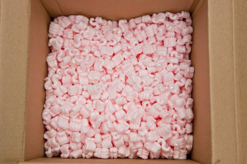 桃红色装箱泡沫 库存照片