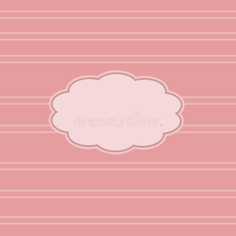 桃红色计算的框架 免版税库存照片