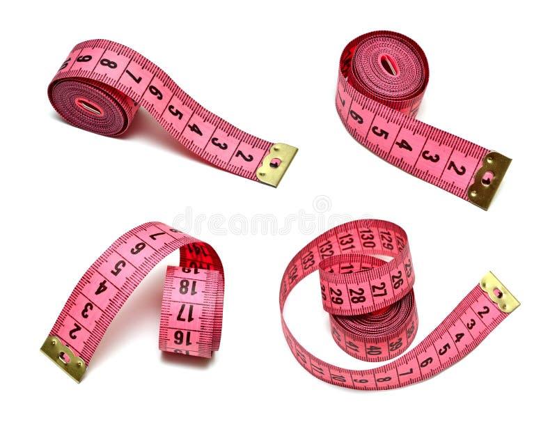 桃红色评定的磁带 免版税库存图片