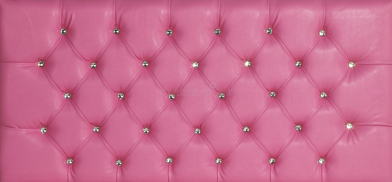 桃红色豪华皮革金刚石散布的背景