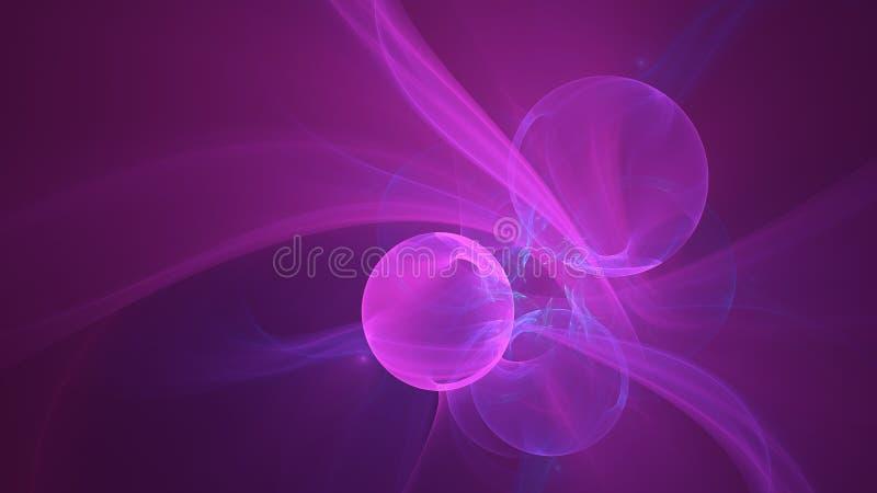 桃红色起泡抽象设计 库存图片