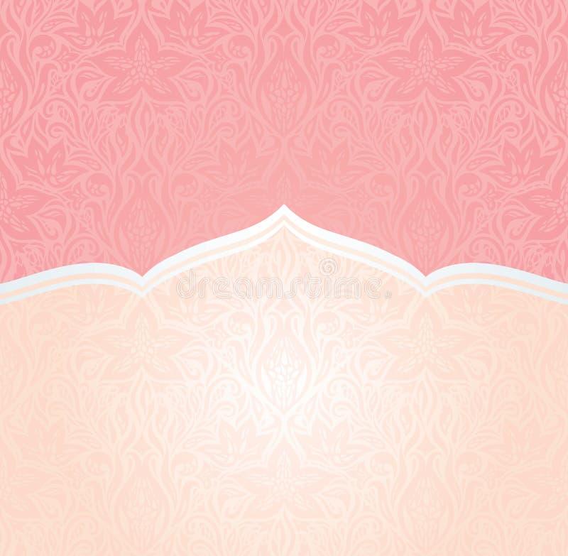 桃红色邀请传染媒介墙纸设计拷贝空间 向量例证