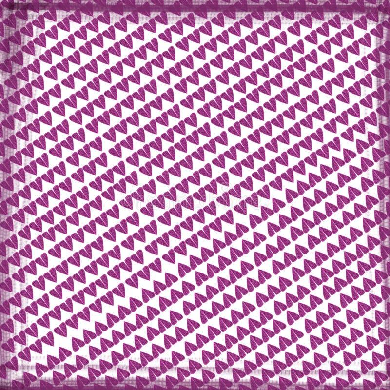 桃红色重点和爱 向量例证