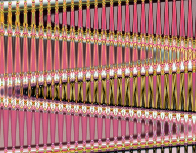 桃红色金属垂直的金马赛克背景 库存照片