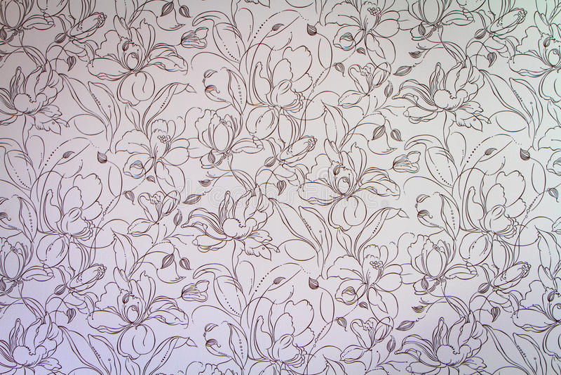 桃红色锦缎无缝的花卉样式背景 库存图片